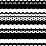 Волнистый зигзаг выравнивает repeatable картину - скачками PA monochrome Стоковое фото RF