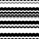 Волнистый зигзаг выравнивает repeatable картину - скачками PA monochrome Стоковые Фото