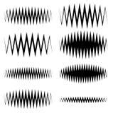 Волнистый, линии выравнивателя зигзага EQ Амплитуда, soundwave, частота бесплатная иллюстрация