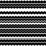 Волнистый, линии зигзага горизонтальные параллельные Абстрактное monochrome море иллюстрация вектора