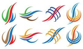 Волнистый комплект значка логотипа Стоковые Фотографии RF