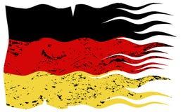 Волнистый немецкий флаг Grunged Стоковые Фотографии RF