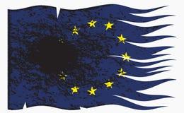 Волнистый флаг Grunged EC Стоковое Изображение