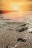 Волнорез в океане Стоковое Изображение