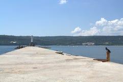 Волнорез и маяк Стоковые Фотографии RF