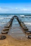 Волнорез на Балтийском море Стоковое Изображение