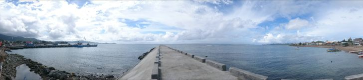 Волнорез Catanduanes Стоковое фото RF