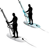 Водные виды спорта виндсерфинга Стоковые Фотографии RF