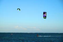 Водные виды спорта змея занимаясь серфингом Стоковые Изображения RF