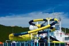 Водные горки Aqua-парка Стоковое фото RF