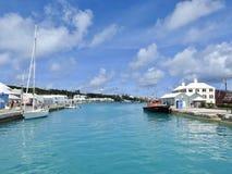 Водный путь в St. George & x27; s, Бермудские Острова Стоковые Изображения