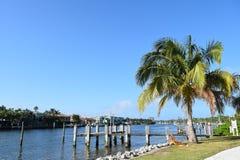 Водный путь Флориды Intracoastal с шлюпками Стоковая Фотография RF