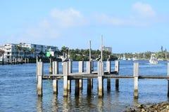 Водный путь Флориды Intracoastal с шлюпками Стоковая Фотография