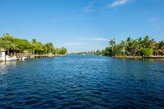 Водный путь Fort Lauderdale Стоковые Фотографии RF