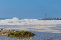 Волны Вентура Калифорния Стоковые Изображения