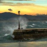 Волны залива сильные Стоковая Фотография RF