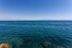 Волны и скала на запасе Rosh Hanikra Стоковое Изображение RF