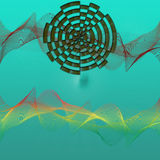 Волны и формы конспекта Стоковое Изображение