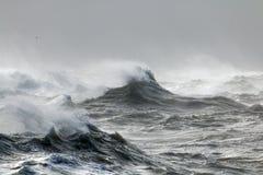 Волны и Spindrift Стоковая Фотография