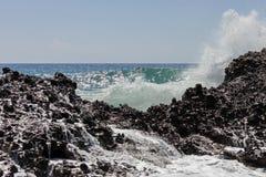 Волны моря Пляж Falasarna, Крит, Greege стоковые фотографии rf
