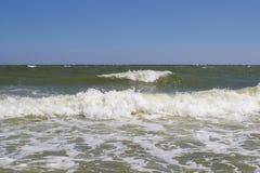 Волны моря хорошей погоды Стоковая Фотография