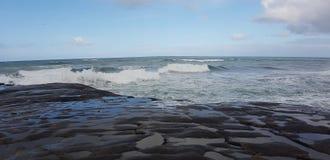 Волны мытья одичалых Диких Западов белые Стоковые Изображения RF
