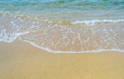 Волны на песке Стоковая Фотография RF
