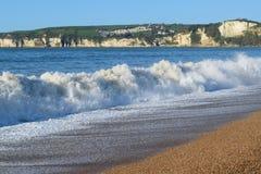 Волны на юрском побережье Стоковое Фото