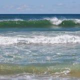 Волны ломая квадратный формат Стоковое фото RF