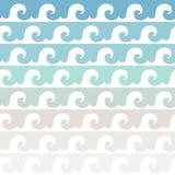 волны текстуры моря конструкции произведения искысства естественные Пестротканая безшовная картина вектора Стоковые Изображения