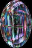 Волокна шарика плодоовощ явора делают красочный абстрактный микрорисунок Стоковая Фотография