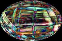 Волокна шарика плодоовощ явора делают красочный абстрактный микрорисунок Стоковые Фото