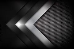 Волокно абстрактной предпосылки темное и черное углерода с кривой бесплатная иллюстрация