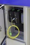 Волокно - оптический шкаф улицы стоковые изображения