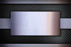 Волокно углерода с предпосылкой текстуры металла нержавеющей стали Стоковое фото RF