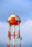 Водонапорная башня апельсина & белых Checkered Стоковые Изображения RF