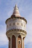 Водонапорная башня в парке Barceloneta в Барселоне Стоковые Изображения RF