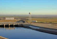 Водонапорная башня и мост-водовод Стоковое фото RF
