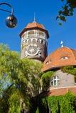 Водонапорная башня - символ города Svetlogorsk (до Rauschen 1946). Россия Стоковые Фотографии RF