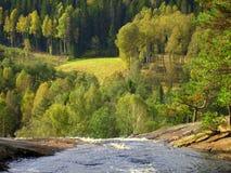 Водопад близко halden Стоковые Изображения