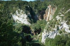 Водопад водопады plitvice национального парка озер Хорватии sostavtsy стоковые фотографии rf