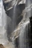 Водопад в горах Кавказа Стоковое Изображение