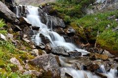 Водопад в горах Стоковая Фотография