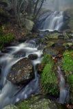 Водопад в лесе осени Стоковая Фотография