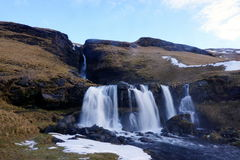Водопад в Исландии Стоковое Фото