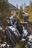 Водопад в курортном городе плохом Gastein лыжи, Австрии, земле Зальцбурге стоковые фото