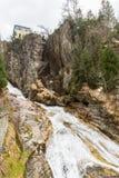 Водопад в курортном городе плохом Gastein лыжи, Австрии стоковое изображение