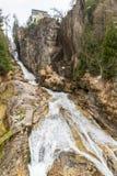 Водопад в курортном городе плохом Gastein лыжи, Австрии стоковая фотография rf