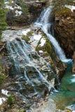 Водопад в курортном городе плохом Gastein лыжи, Австрии стоковые фото