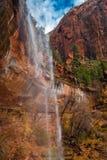 Водопад в национальном парке Сиона Стоковые Фотографии RF